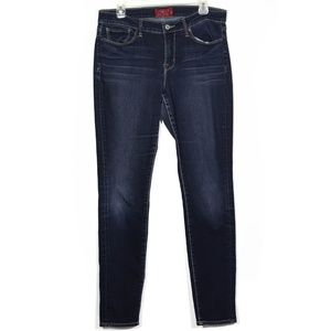 Lucky Brand Dark Washed Skinny ankle jeans